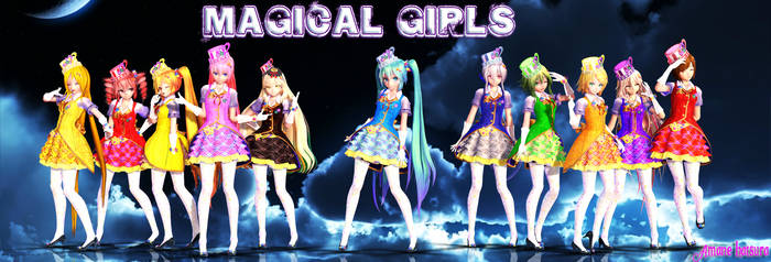 MMD TDA:Magical Girls by AmaneHatsura
