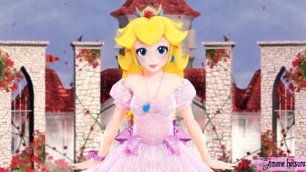 MMD TDA: ~Yours truly, princess Toadstool, Peach~ by AmaneHatsura