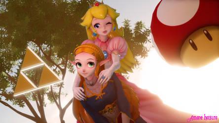 MMD TDA: ~ Princess Peach and Zelda ~ by AmaneHatsura