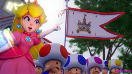 MMD Nintendo: War of Kingdoms (Princes Peach) by AmaneHatsura