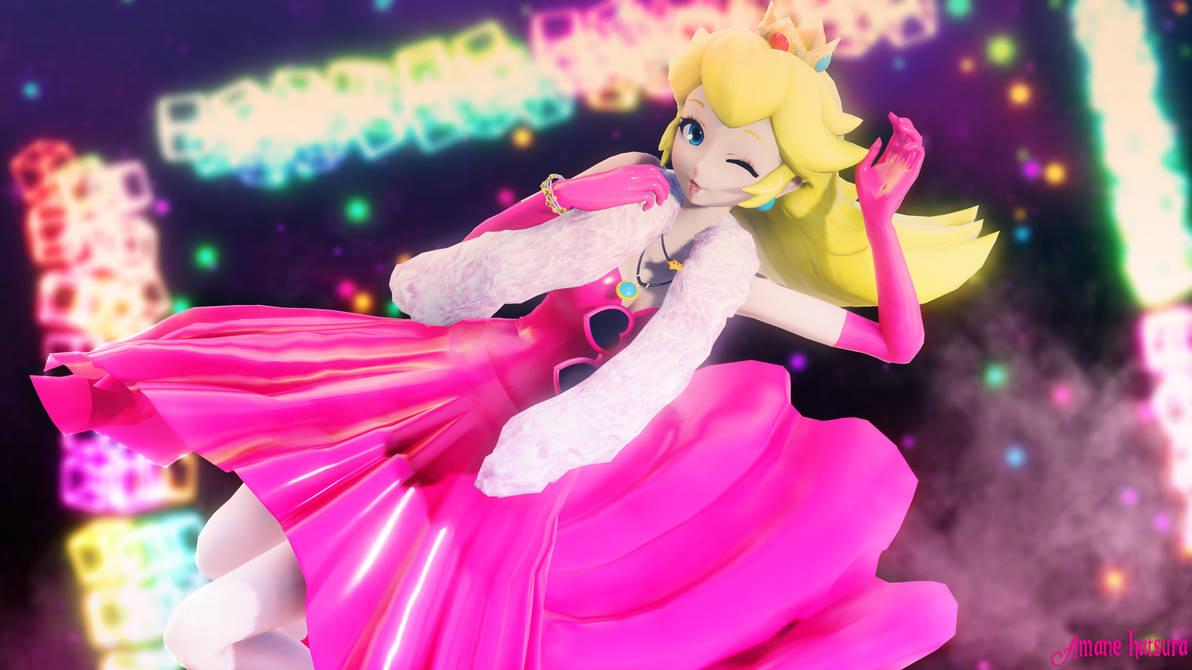 MMD TDA: ~ Jump up Super Star! ~ (Princess Peach) by AmaneHatsura
