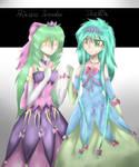 RQ Princess Thunder and Thallia by WolfArtist1