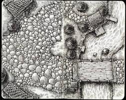 Moleskine Landscape Doodle by Ian-Terry