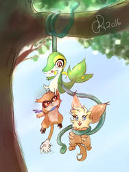 Hang in there, babies! by Friggin-Artwork
