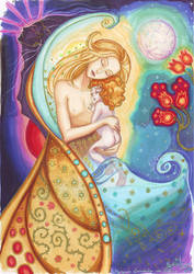 Mother and child by MorganeDeMatons