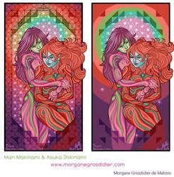Mari and Asuka by MorganeDeMatons