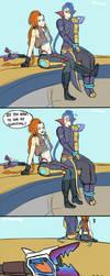 JInx and Kayn Odyssey comic by Ronimep