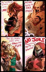 Valentinesss (Predator and Destiny style) by squarerootofdestiny