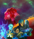 Mass Effect/Fallout Happenings (COMMISSION) by squarerootofdestiny