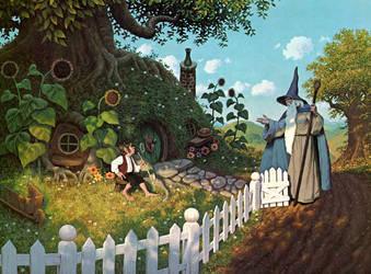Gandalfs Visit by BrothersHildebrandt