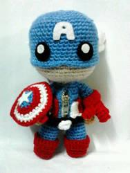 Captain America sackboy by NVkatherine