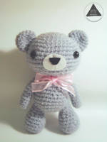 Gray the Bear amigurumi (FREE PATTERN + TUTORIAL) by NVkatherine