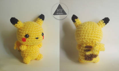 Chibi Pikachu amigurumi by NVkatherine