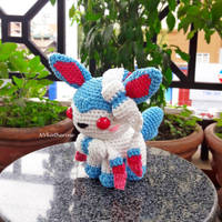 [DISCOUNTED SHIPPING] Shiny Sylveon amigurumi by NVkatherine