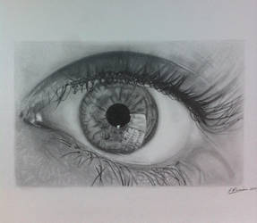 eye reflection in pencil by SamanthaMessias
