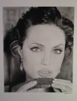 Angelina Jolie Pencil Portrait by SamanthaMessias