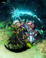 Guild Wars 2 - My Asura by Qvi