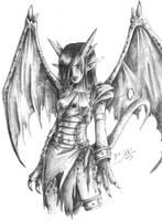 Dragon Half lady by Qvi