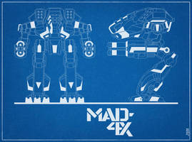 Marauder 4X Blue Print by LKY13