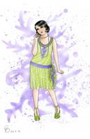 Roaring Twenties Wisteria Dress by Yosephyne