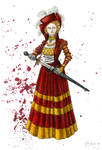 Blood and Gold Cranach Dress by Yosephyne