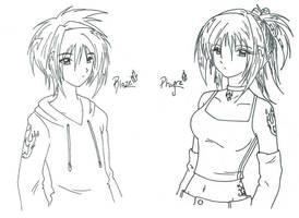 Phyre and Blaze by AsakuraMei