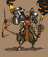 Steampunk Samurai by Xiperius