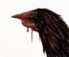 The neighborhood raven portrait by Xiperius