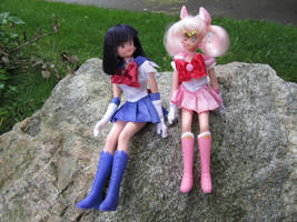 Chibi Moon and Sailor Saturn 2 by jo-fitz