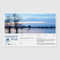 Massive Blue Portfolio Website by samster