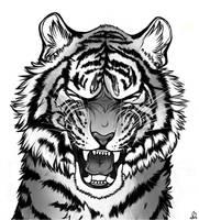 Tiger Roar by DarkMasterOfDragons