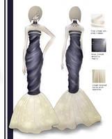 Fashion design evening gown by mai-RAM