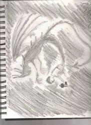 Boy and Shadow by darkwingsaloft