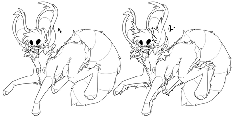 3.0 F2U Emo Lineart by possxm