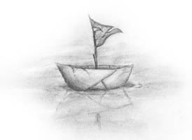 Paper Boat by SFrostWing