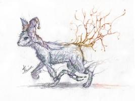 Eidleon - Ghost Eevee by SFrostWing