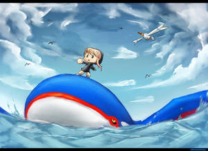 Kyogre Surfing by SFrostWing