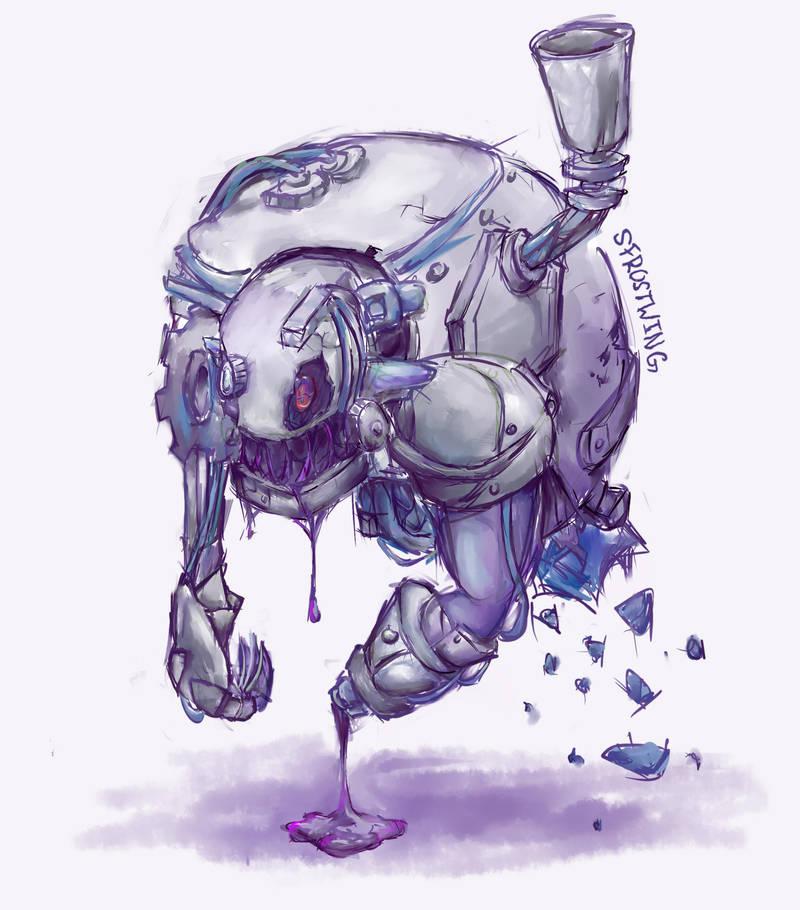 Demaros  -Steel/Poison Fakemon by SFrostWing