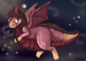 chubby dragon by Sharkledog