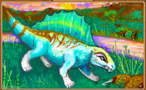 AJ paint: dimetrodon by Sharkledog