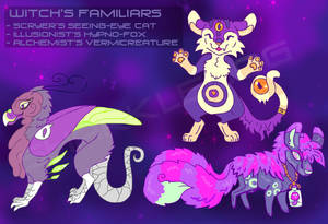 Witch's Familiars [OPEN] by Sharkledog