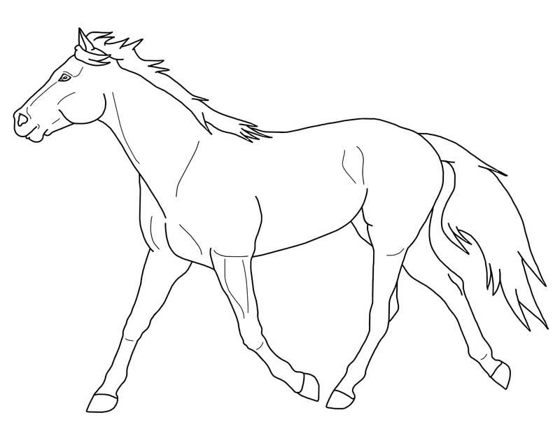 Kleurplaat Paardhoofd Free Trotting Horse Lineart By Black Heart Always On