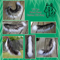 20in Realistic Wolf/Canine Yarn Tail - SOLD! by Black-Heart-Always