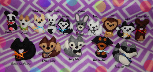 Felt Doll Plushies! FOR SALE by Black-Heart-Always