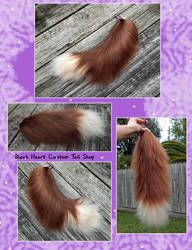 16 Inch Brown Yarn Tail by Black-Heart-Always