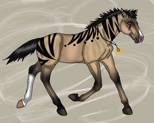 Adoptable Timber Horse Foal -3 by Black-Heart-Always