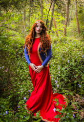 Medieval Pre-Raphaelite lady by SomniumDantis