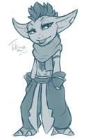 Tikza being Tikza (sketch) by Juriia