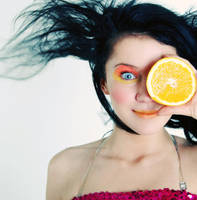 Cheeky Orange by purple-dots