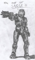 Sarge - Red vs Blue, Sketch by SilverbackPie